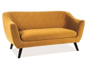 SOFA Signal MOLLY 2 VELVET CURRY BLUVEL 68 / WENGE (T)